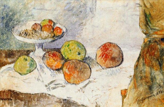 Натюрморт с тарелкой фруктов :: Гоген Поль - Paul Gauguin фото