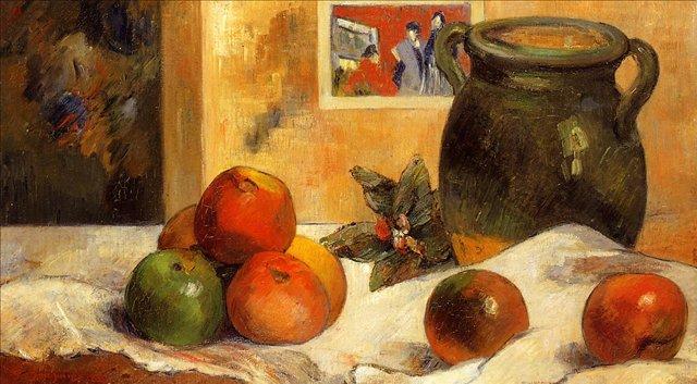 Натюрморт с японским принтом :: Поль Гоген - Гоген Поль ( Paul Gauguin ) фото