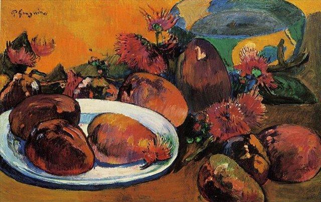 Натюрморт с Манго :: Гоген Поль - Paul Gauguin фото