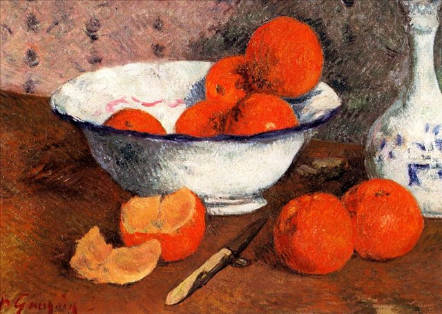 Натюрморт с апельсинами :: Гоген Поль - Гоген Поль ( Paul Gauguin ) фото