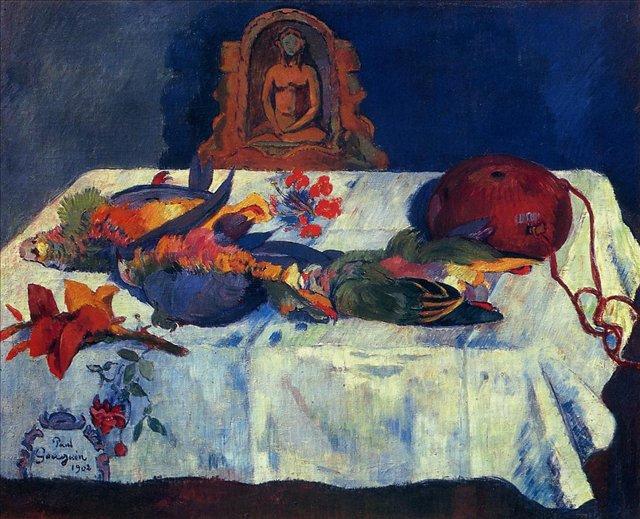 Натюрморт с Попугаями - Paul Gauguin фото