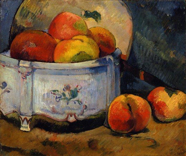 Натюрморт с персиками :: Гоген Поль - Paul Gauguin фото