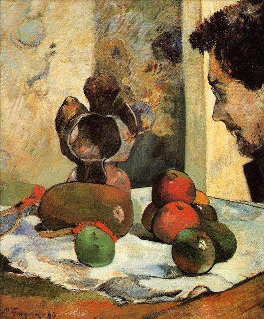 Натюрморт с профилем Шарля Лаваля :: Гоген Поль - Paul Gauguin фото