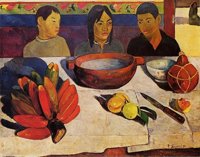 Трапеза (Натюрморт с бананами) :: Гоген Поль - Paul Gauguin фото