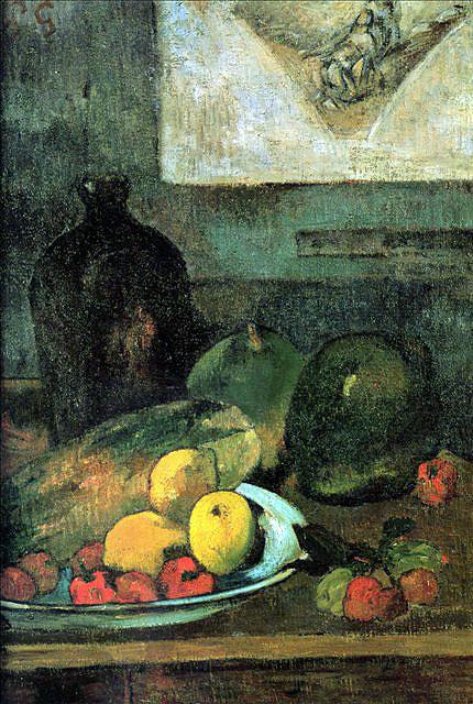 Натюрморт на фоне гравюры Делакруа :: Гоген Поль - Paul Gauguin фото