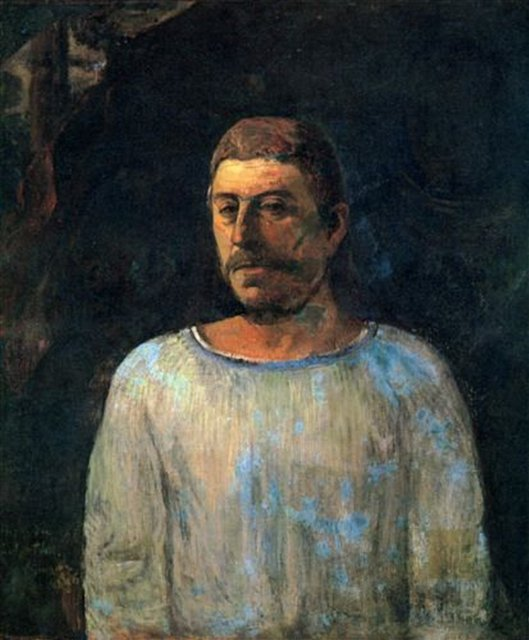 Автопортрет На Голгофе :: Поль Гоген - Paul Gauguin фото