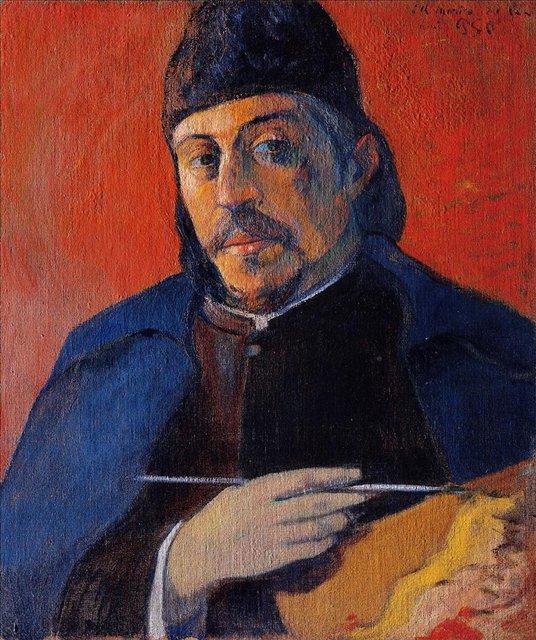 Автопортрет с палитрой :: Поль Гоген [ живопись постимпрессионизм ] - Гоген Поль ( Paul Gauguin ) фото