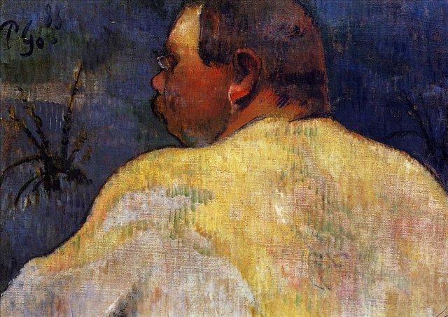 картина портрет < Капитан Жакоб >  :: Поль Гоген [ живопись постимпрессионизм ] - Гоген Поль ( Paul Gauguin ) фото