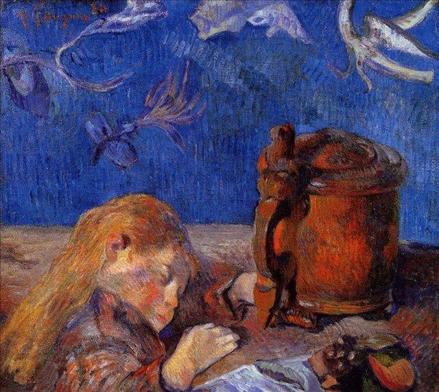 < Спящий Кловис Гоген >  :: Поль Гоген [ живопись постимпрессионизм ] - Гоген Поль ( Paul Gauguin ) фото