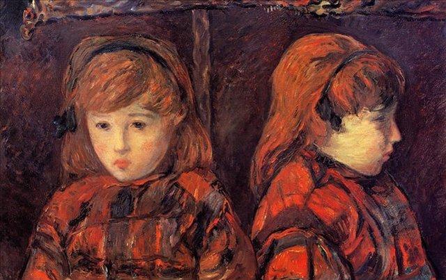 < Двойной портрет молодой девушки >  :: Поль Гоген [ живопись постимпрессионизм ] - Гоген Поль ( Paul Gauguin ) фото