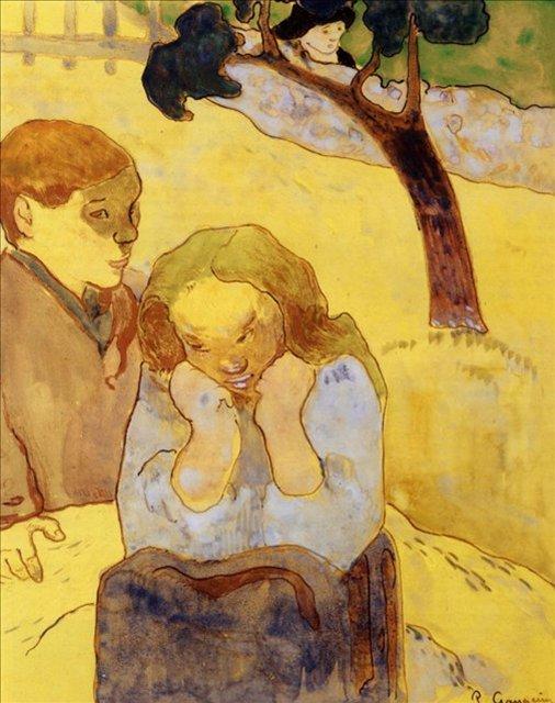 < Человеческое страдание >  :: Поль Гоген [ живопись постимпрессионизм ] - Гоген Поль ( Paul Gauguin ) фото