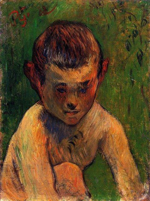 < Бретон Батер в детстве >  :: Поль Гоген [ живопись постимпрессионизм ] - Paul Gauguin фото
