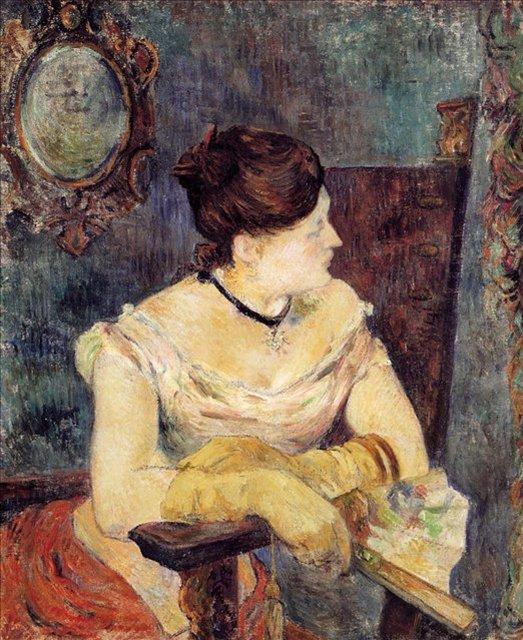< Мадам Метт Гоген в вечернем одеянии >  :: Поль Гоген [ живопись постимпрессионизм ] - Гоген Поль ( Paul Gauguin ) фото