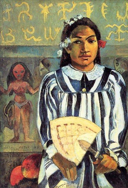 < Marahi Metua no Tehamana. У Техаманы было много предков >  :: Поль Гоген [ живопись постимпрессионизм ] - Гоген Поль ( Paul Gauguin ) фото