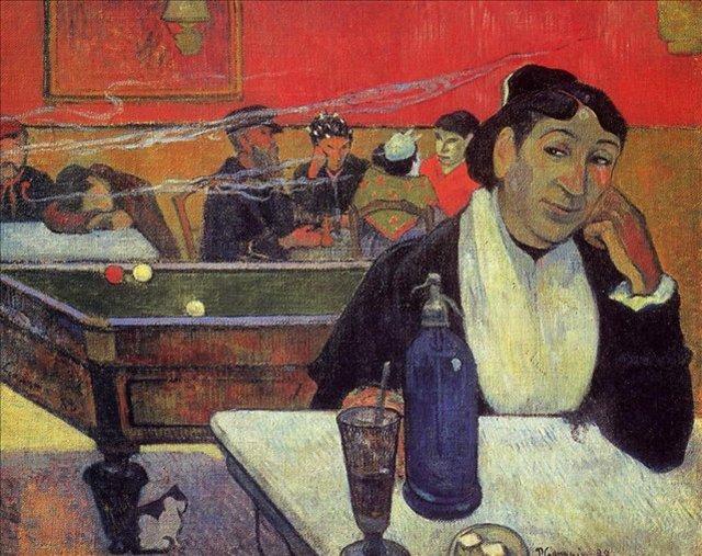 < Ночное кафе в Арлесе >  :: Поль Гоген [ живопись постимпрессионизм ] - Гоген Поль ( Paul Gauguin ) фото