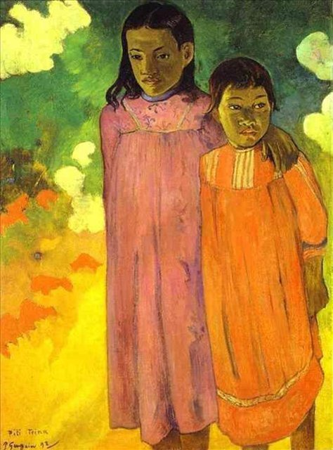детский портрет Две сестры :: Поль Гоген - Paul Gauguin фото