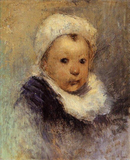 < Портрет ребёнка >  :: Поль Гоген [ живопись постимпрессионизм ] - Гоген Поль ( Paul Gauguin ) фото