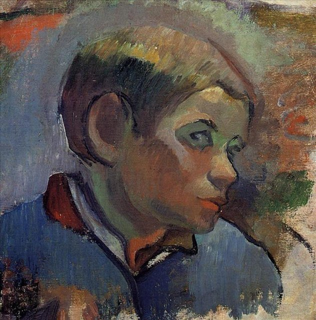 < Портрет мальчика >  :: Поль Гоген [ живопись постимпрессионизм ] - Гоген Поль ( Paul Gauguin ) фото