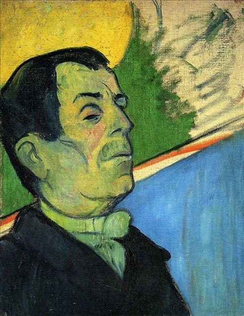 < Портрет мужчины, носящего кулон >  :: Поль Гоген [ живопись постимпрессионизм ] - Гоген Поль ( Paul Gauguin ) фото