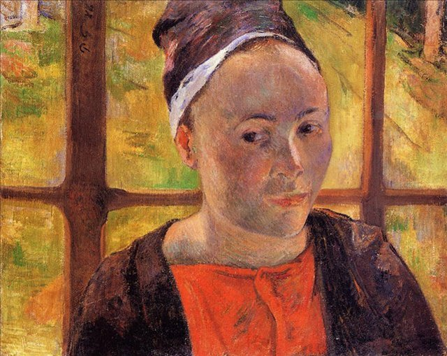 < Портрет женщины >  :: Поль Гоген [ живопись постимпрессионизм ] - Гоген Поль ( Paul Gauguin ) фото