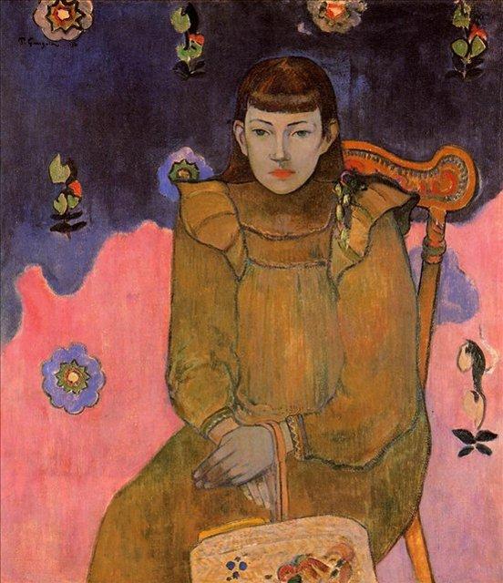 < Портрет молодой женщины, Вайт (Жеанн) Гупил >  :: Поль Гоген [ живопись постимпрессионизм ] - Гоген Поль ( Paul Gauguin ) фото