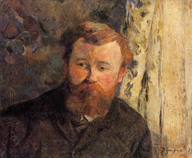 < Портрет Ахилла Гранхи-Тейлора >  :: Поль Гоген [ живопись постимпрессионизм ] - Гоген Поль ( Paul Gauguin ) фото