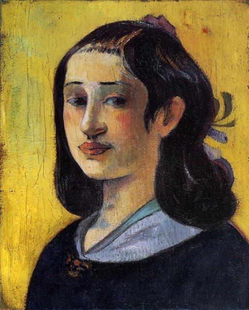 < Портрет Алин Гоген >  :: Поль Гоген [ живопись постимпрессионизм ] - Paul Gauguin фото