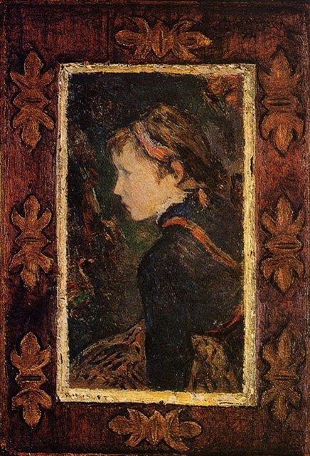 < Портрет Алин >  :: Поль Гоген [ живопись постимпрессионизм ] - Гоген Поль ( Paul Gauguin ) фото