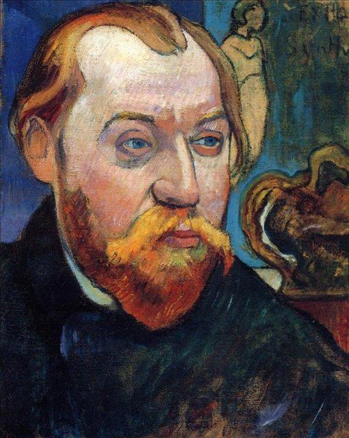 < Портрет Луи Роя >  :: Поль Гоген [ живопись постимпрессионизм ] - Гоген Поль ( Paul Gauguin ) фото