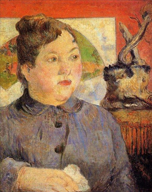 < Портрет мадам Александры Колер >  :: Поль Гоген [ живопись постимпрессионизм ] - Paul Gauguin фото
