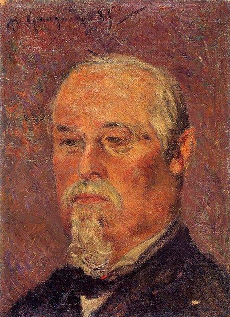 < Портрет Филберта Фавре >  :: Поль Гоген [ живопись постимпрессионизм ] - Paul Gauguin фото