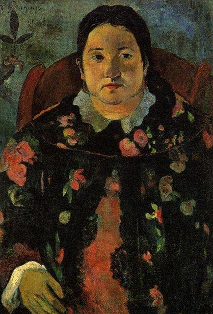 < Портрет Сюзанны Бамбридж  >  :: Поль Гоген [ живопись постимпрессионизм ] - Гоген Поль ( Paul Gauguin ) фото