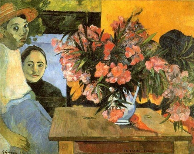 < Te Tiare Arani (Цветы Франции) >  :: Поль Гоген [ живопись постимпрессионизм ] - Гоген Поль ( Paul Gauguin ) фото