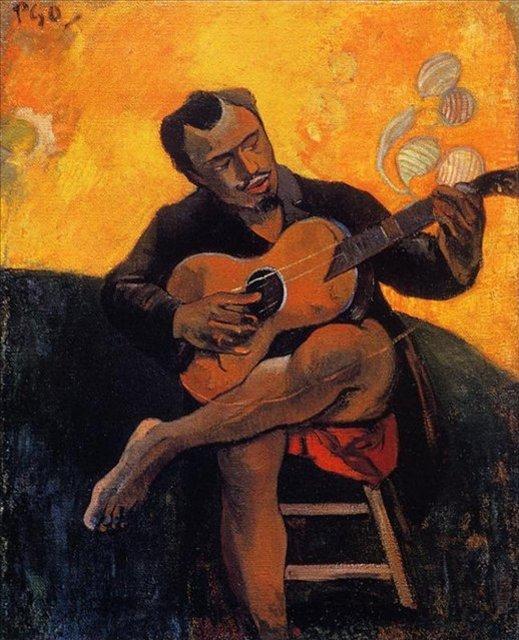 < Гитарист >  :: Поль Гоген [ живопись постимпрессионизм ] - Paul Gauguin фото