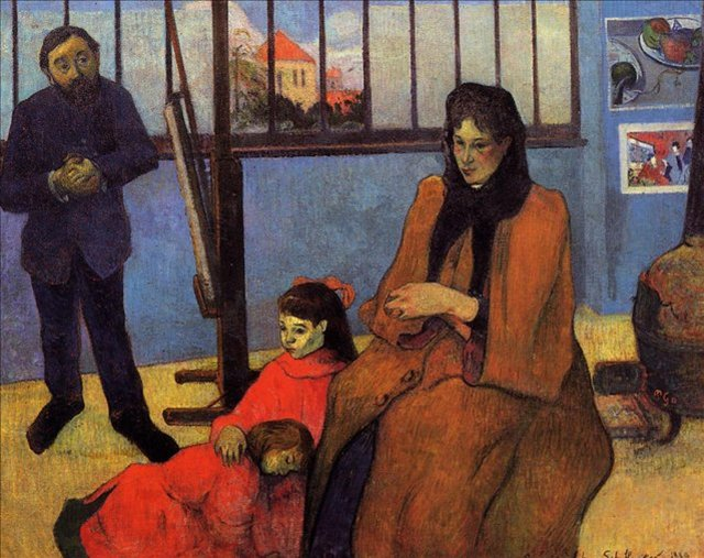 < Семья Шуффенекеров >  :: Поль Гоген [ живопись постимпрессионизм ] - Гоген Поль ( Paul Gauguin ) фото