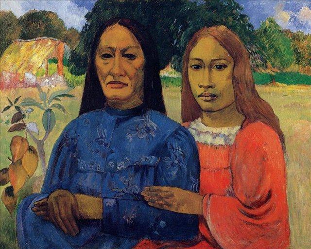 < Две женщины (Мать и дочь) >  :: Поль Гоген [ живопись постимпрессионизм ] - Гоген Поль ( Paul Gauguin ) фото