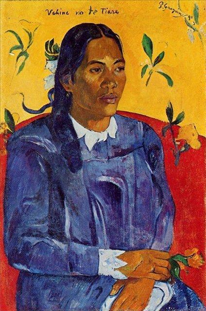 < Vahine no te Tiare (Женщина с цветком) >  :: Поль Гоген [ живопись постимпрессионизм ] - Paul Gauguin фото