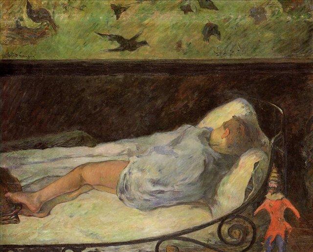 < Спящая девочка >  :: Поль Гоген [ живопись постимпрессионизм ] - Гоген Поль ( Paul Gauguin ) фото