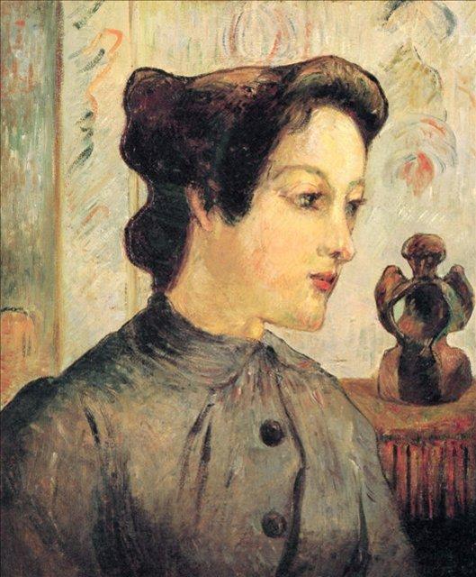 < Женщина с волосами, убранными в пучок >  :: Поль Гоген [ живопись постимпрессионизм ] - Paul Gauguin фото