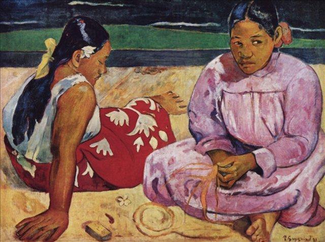 < Женщины на побережье >  :: Поль Гоген [ живопись постимпрессионизм ] - Гоген Поль ( Paul Gauguin ) фото