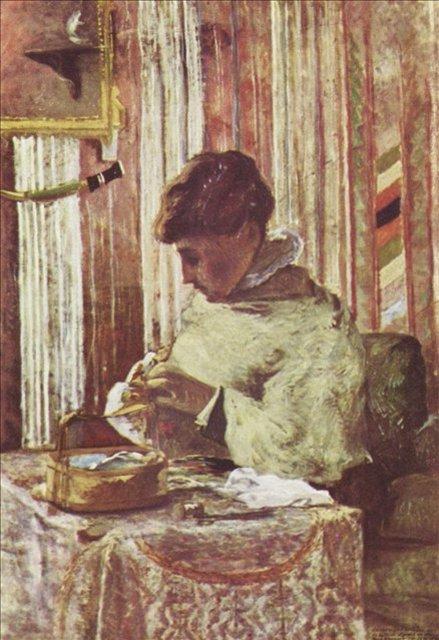 < Портрет мадам Гоген >  :: Поль Гоген [ живопись постимпрессионизм ] - Paul Gauguin фото