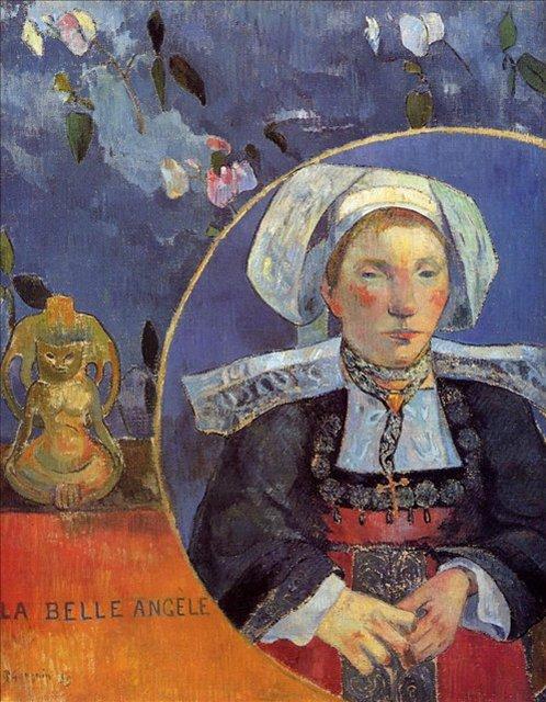 < Прекрасная Анжель >  :: Поль Гоген [ живопись постимпрессионизм ] - Paul Gauguin фото