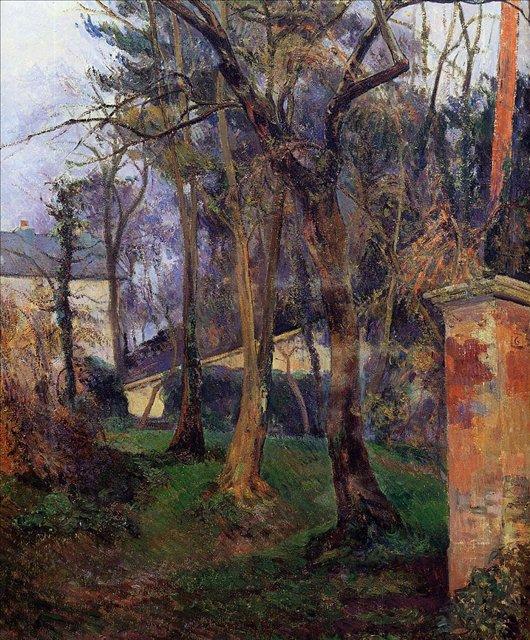 < Заброшенный сад >  :: Поль Гоген [ живопись постимпрессионизм ] - Гоген Поль ( Paul Gauguin ) фото