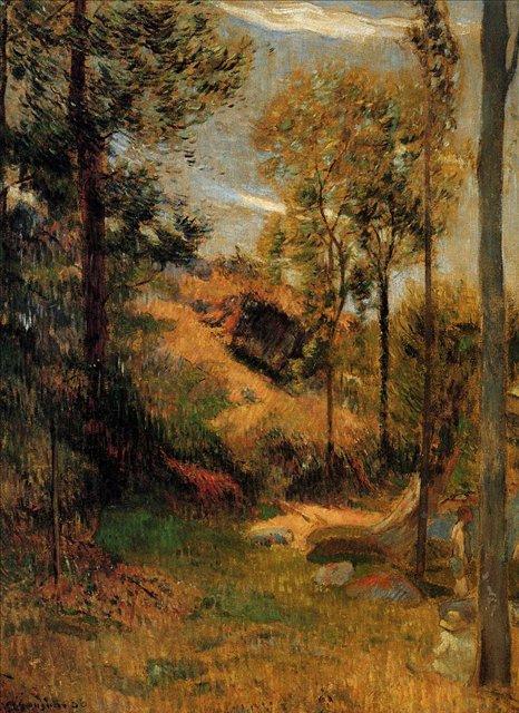 пейзаж < Место купания >  :: Поль Гоген [ живопись постимпрессионизм ] - Paul Gauguin фото