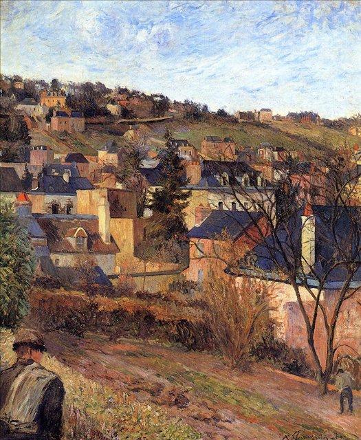 пейзаж < Голубые крыши >  :: Поль Гоген [ живопись постимпрессионизм ] - Paul Gauguin фото