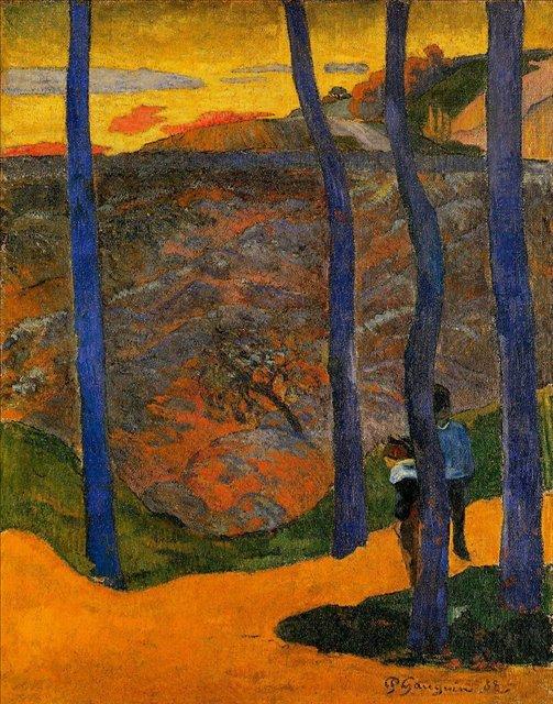 пейзаж < Голубые деревья >  :: Поль Гоген [ живопись постимпрессионизм ] - Гоген Поль ( Paul Gauguin ) фото