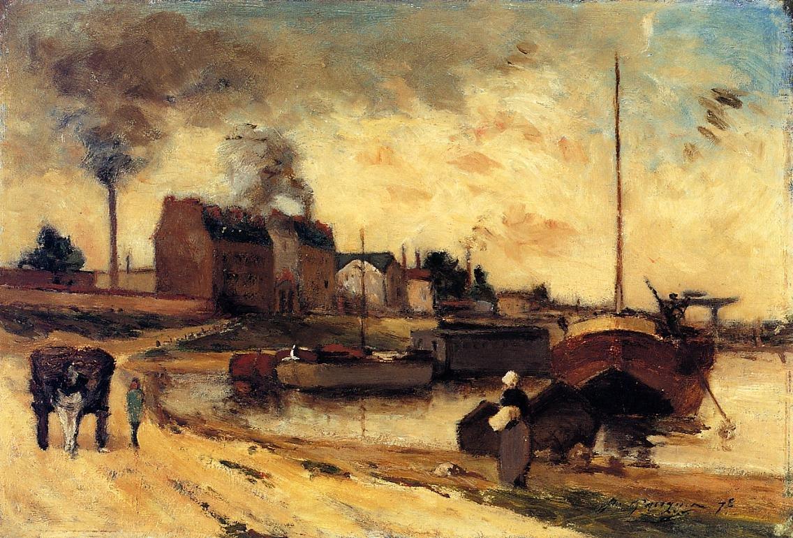 пейзаж < Фабрики и набережная Гренелль >  :: Поль Гоген [ живопись постимпрессионизм ] - Гоген Поль ( Paul Gauguin ) фото