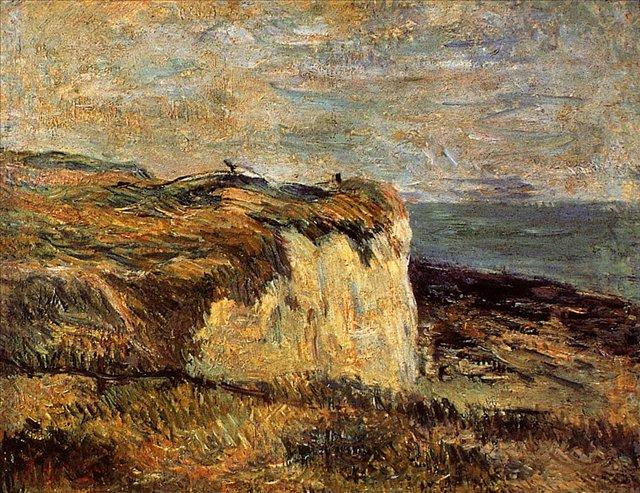 пейзаж Каменоломня рядом с Дьепом :: Поль Гоген [ живопись постимпрессионизм ] - Paul Gauguin фото
