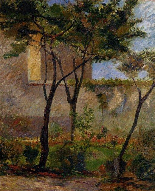 пейзаж < Уголок сада >  :: Поль Гоген [ живопись постимпрессионизм ] - Гоген Поль ( Paul Gauguin ) фото