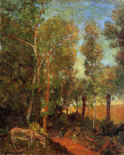 пейзаж < Осёл на просеке >  :: Поль Гоген [ живопись постимпрессионизм ] - Paul Gauguin фото